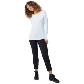 tentree Goji LS Shirt Women Skyway Blue Micro Stripe